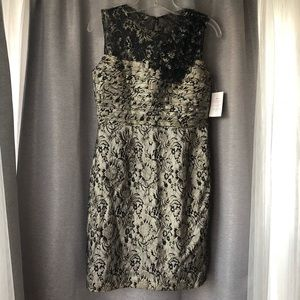 NWT Taylor lace illusion dress 6P